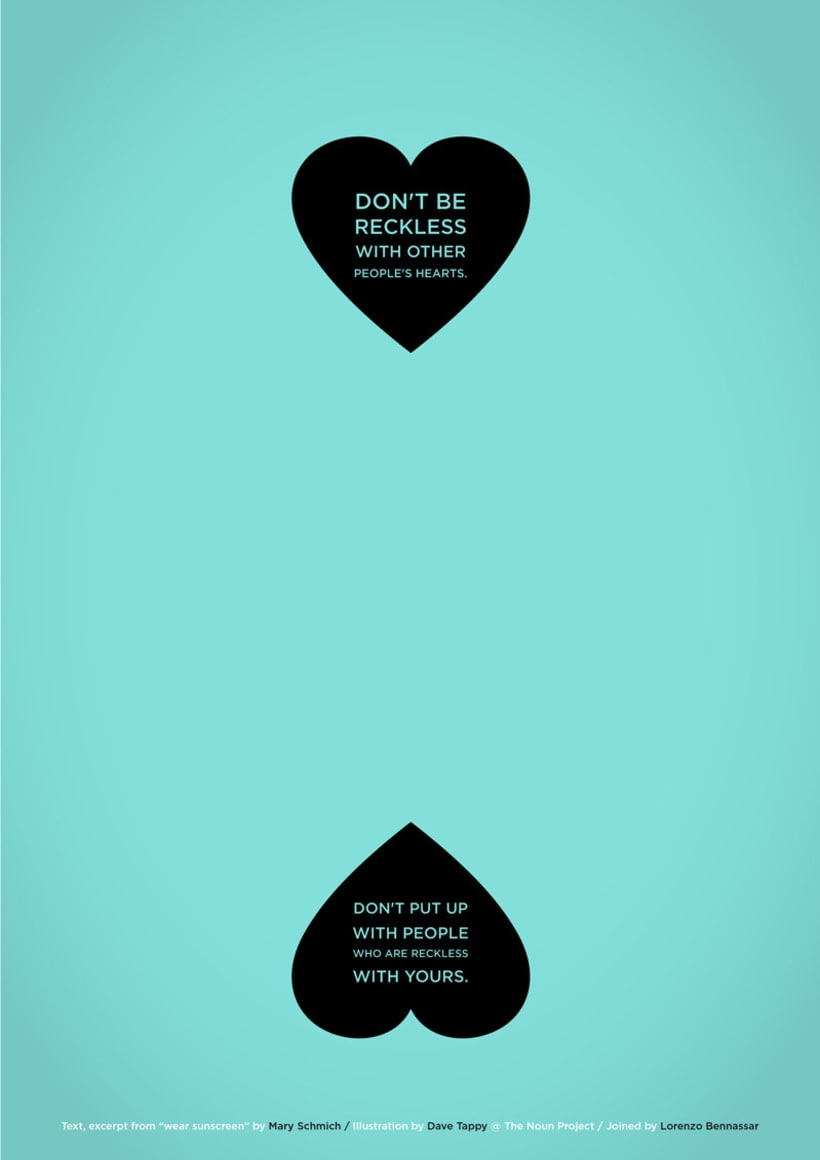 Wear Sunscreen Poster Series 4
