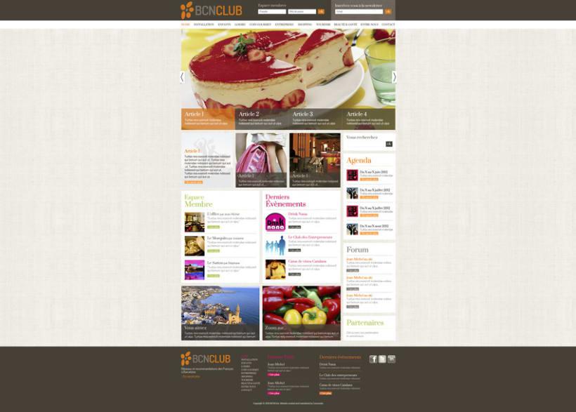 Direction Artistique de la page web de BCNClub 1