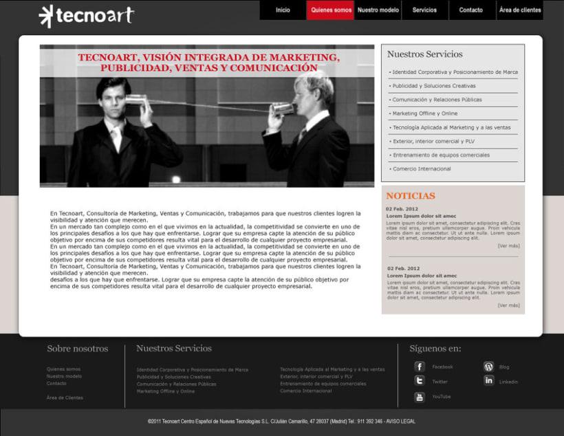 Web Corporativa Tecnoart 2