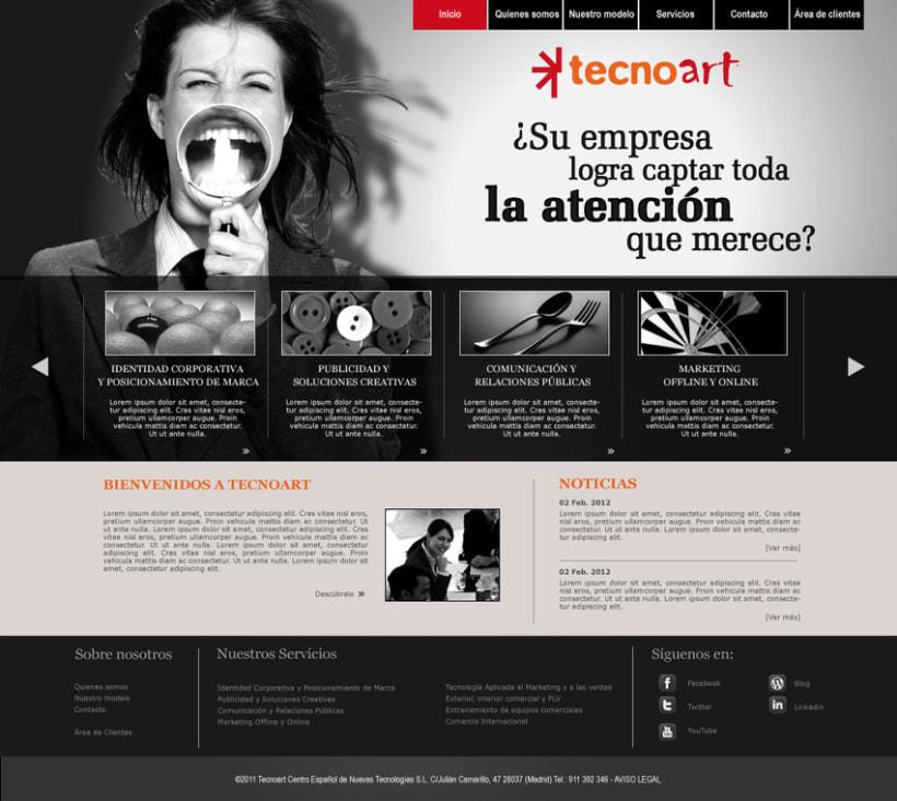Web Corporativa Tecnoart 1