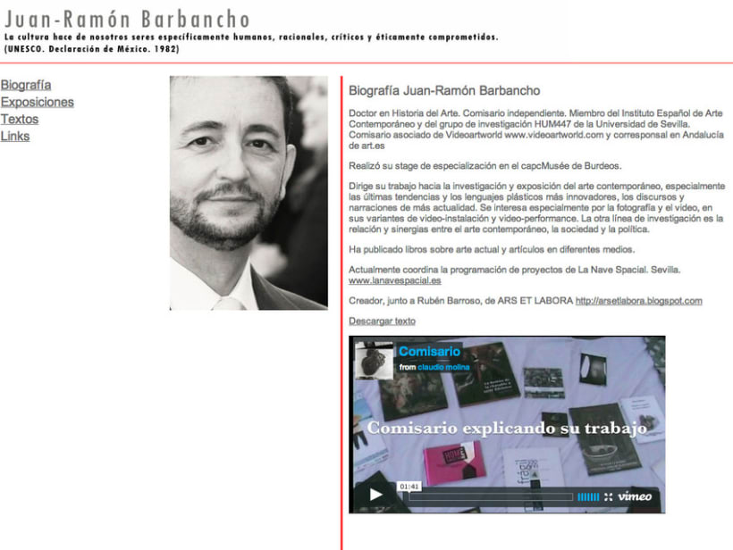 Website Comisario de Arte 6