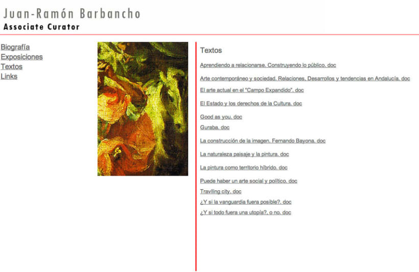 Website Comisario de Arte 5