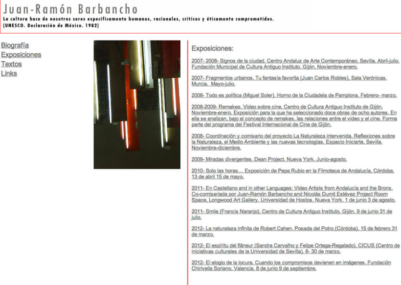 Website Comisario de Arte 4
