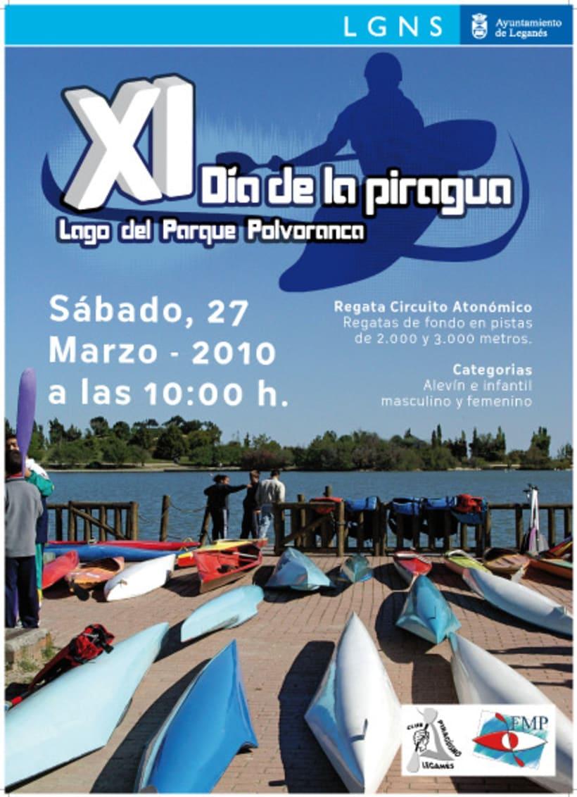 Cartel XI Día de la Piragua 1