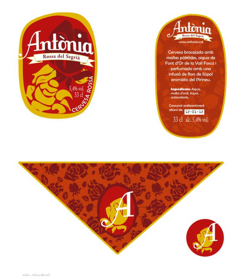 Creación Marca de Producto - Cerveza Antònia 4