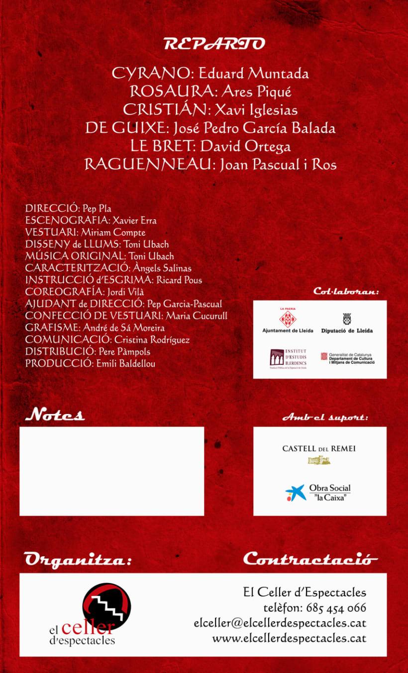 Flyer Cyrano de Bergerac - rediseño 5