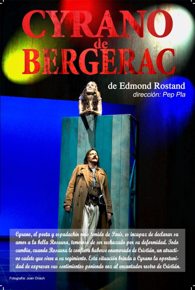 Flyer Cyrano de Bergerac - rediseño 2