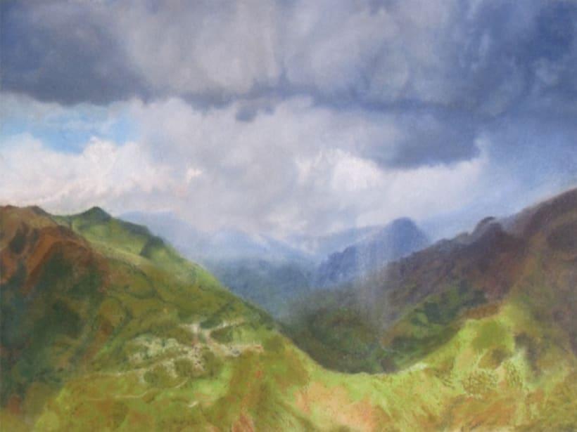 Tormenta en montañas de Sudamerica. 2