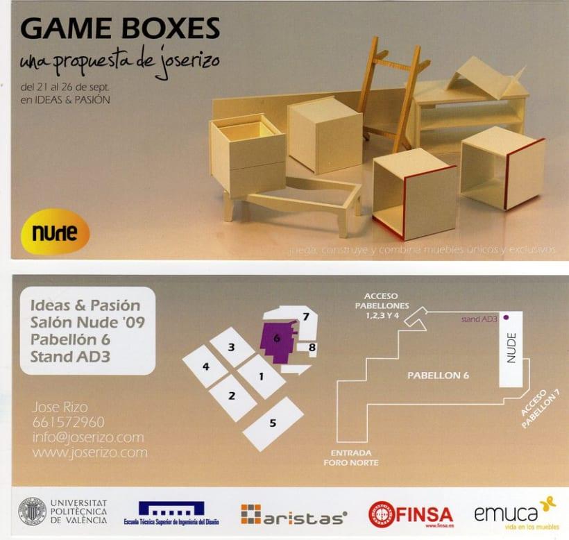 Tarjeta para exposición. Game Boxes  2