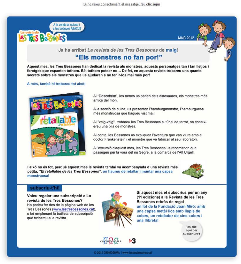 e-mailing La Revista de Les Tres Bessones 1