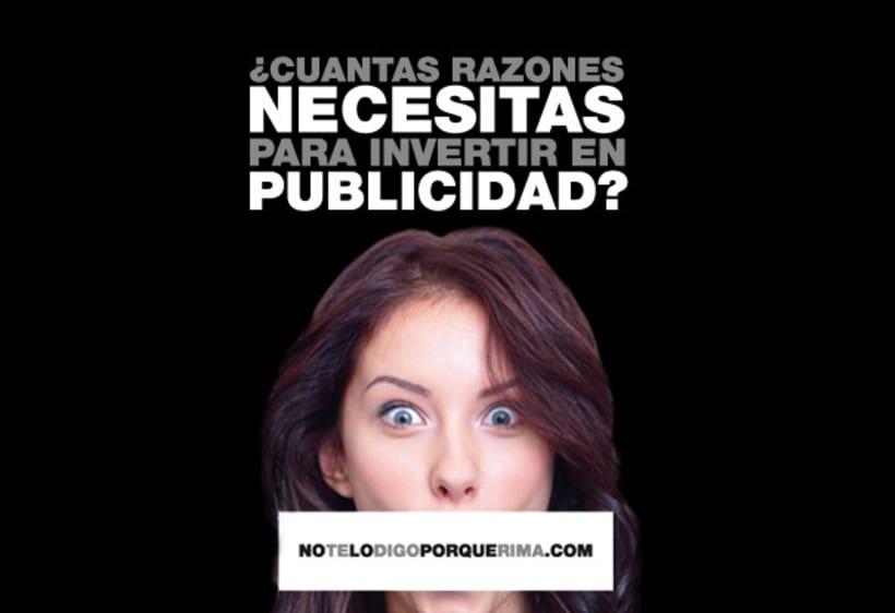 Campaña notelodigoporquerima.es 2