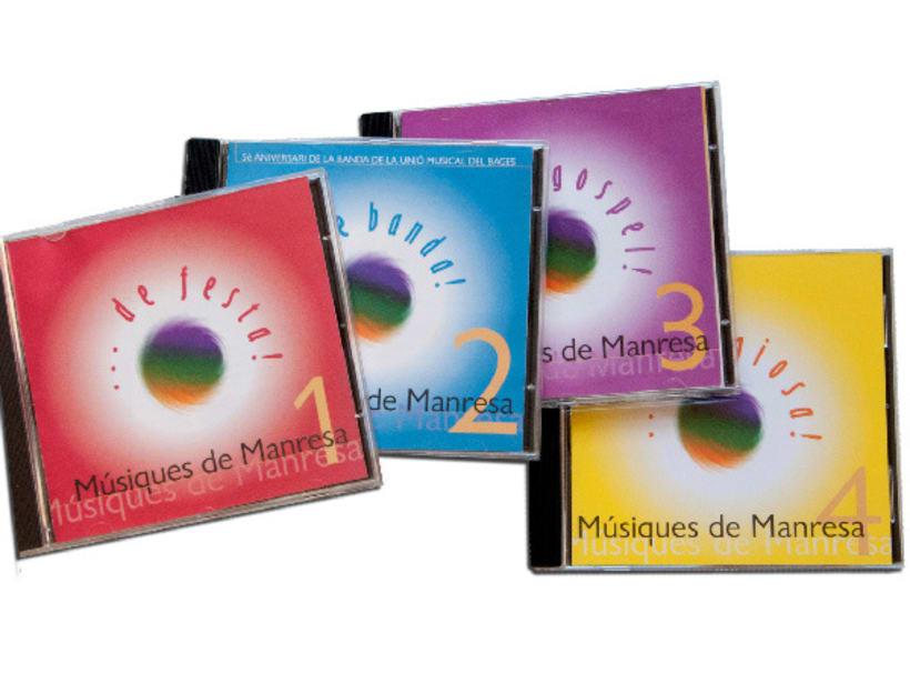 Disseny col·lecció cd Músiques de Manresa 1