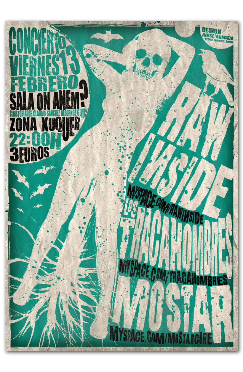 RAW INSIDE + LOS TRACAHOMBRES + MOSTAR | Poster 1