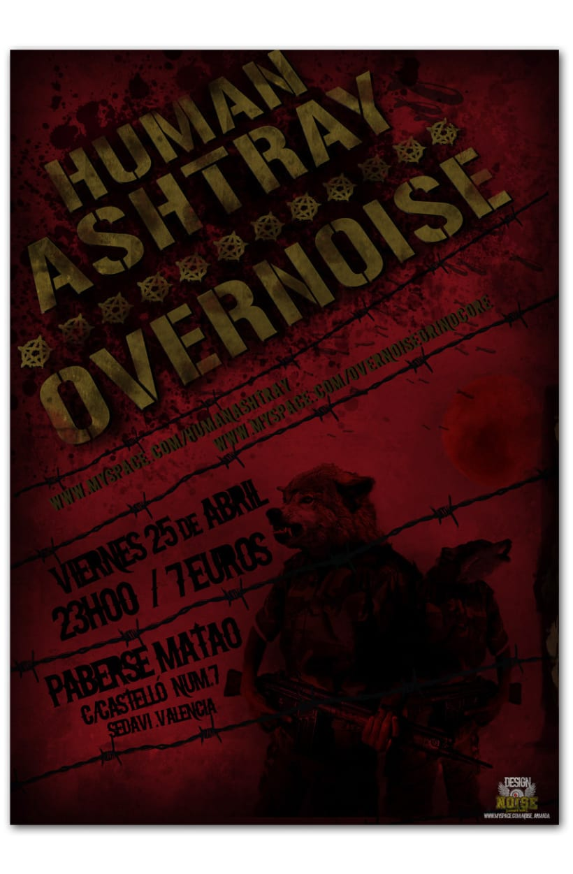 HUMAN ASHTRAY + OVERNOISE | Poster 1