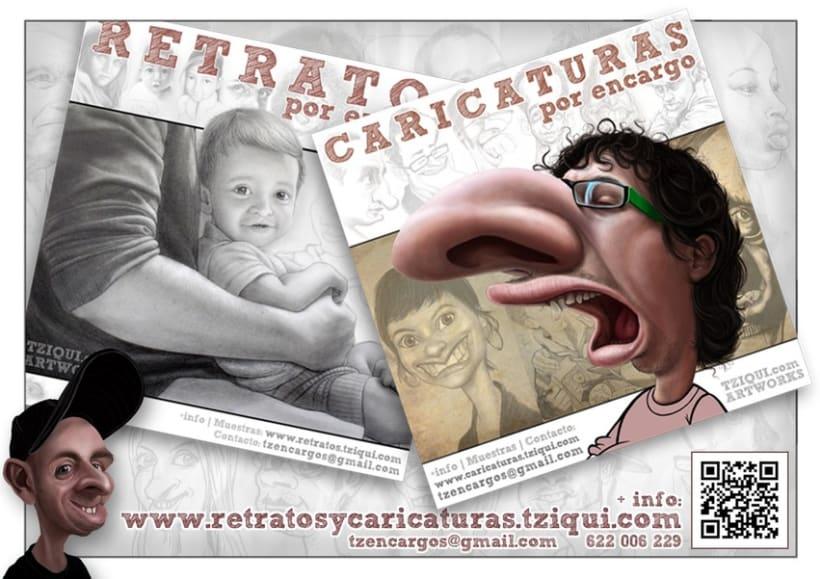 Retratos y caricaturas por encargo 1