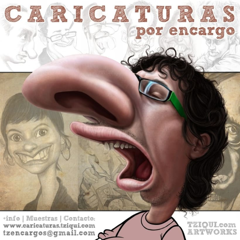 Retratos y caricaturas por encargo 3