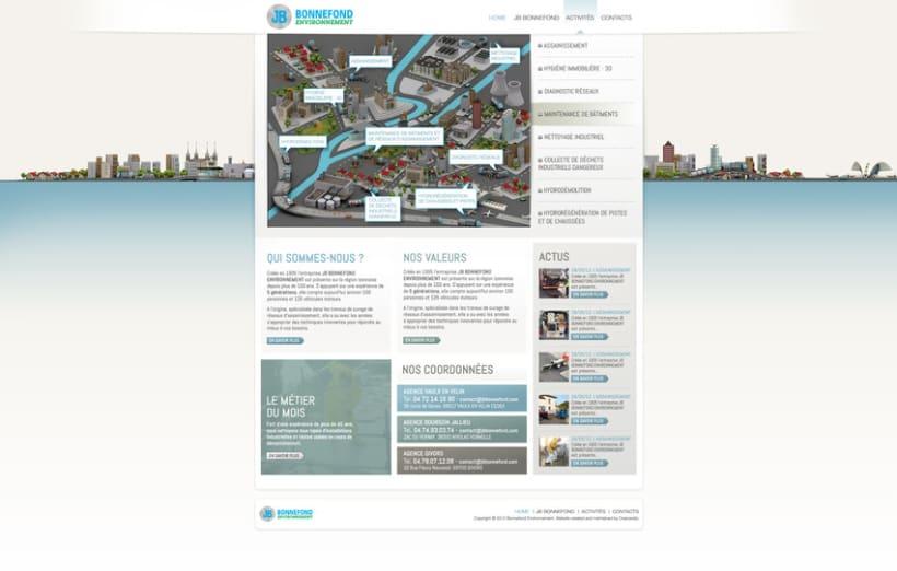 Direction Artistique de la page web De JB Bonnefond 1
