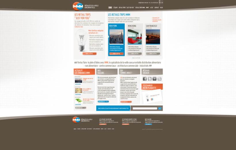 Direction Artistique de la page web de MMM 1