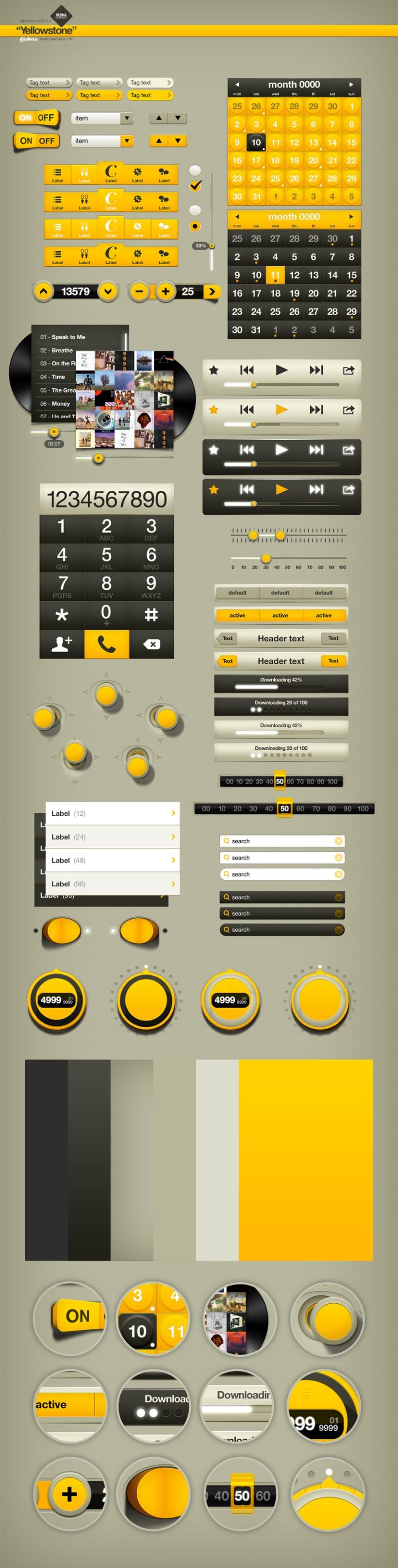 Creatorica UI Set - Yellowstone 2