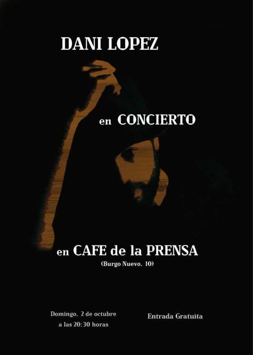 Cartel para concierto. 1