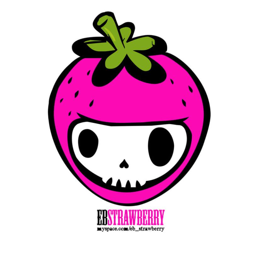 EB STRAWBERRY SHOP | Logo + Pegatina 1