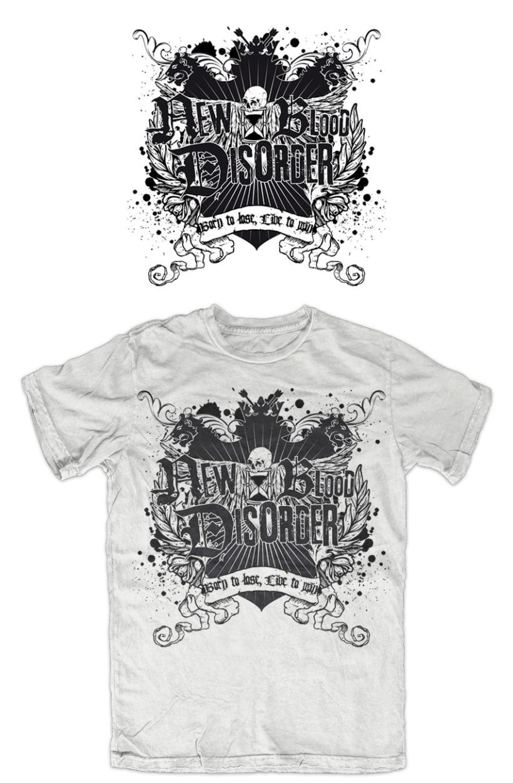 NEW BLOOD DISORDER |  logo + CD + camiseta 3
