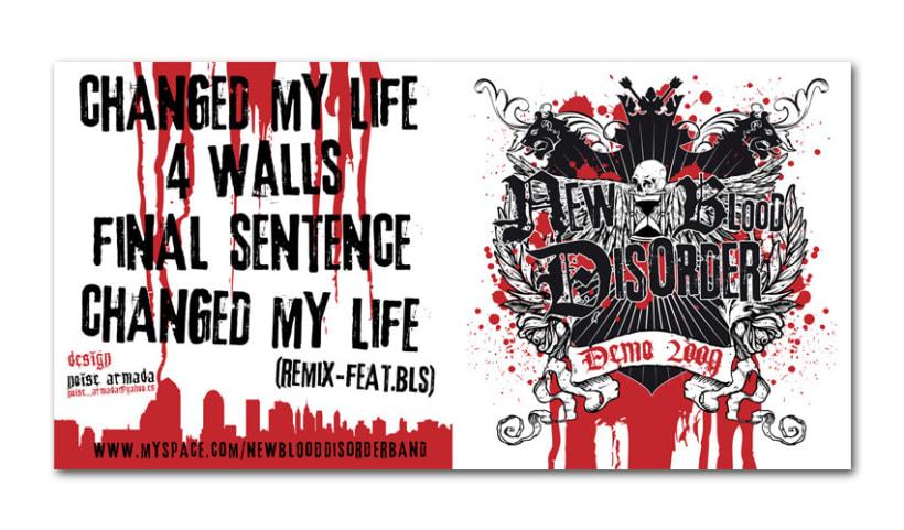 NEW BLOOD DISORDER |  logo + CD + camiseta 2