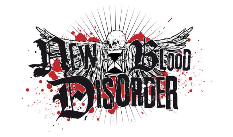 NEW BLOOD DISORDER |  logo + CD + camiseta 1