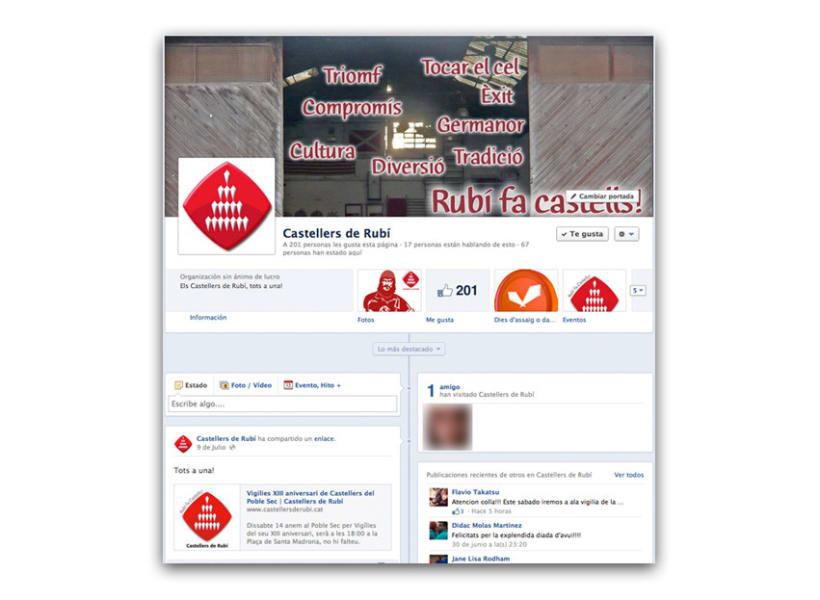 Imagen corporativa y comunicación de Castellers de Rubí 7