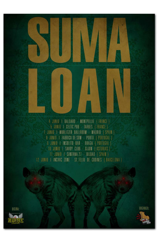 SUMA + LOAN | tour poster 1