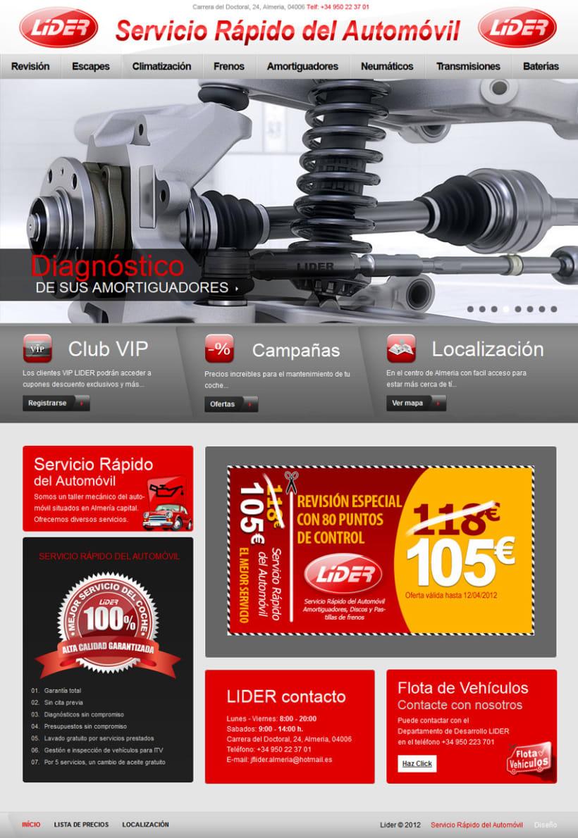Servicios del Automovil - Sitio Web  1