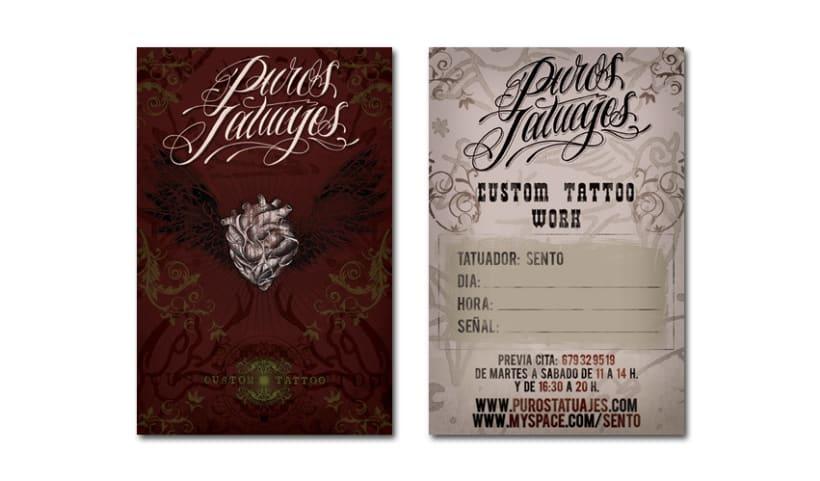 PUROS TATUAJES   tarjetas + flyers 1