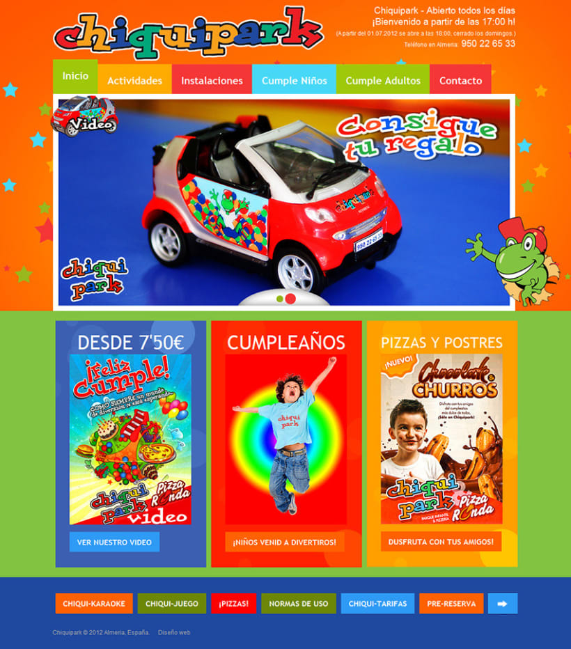 Kids Park Website Design 1
