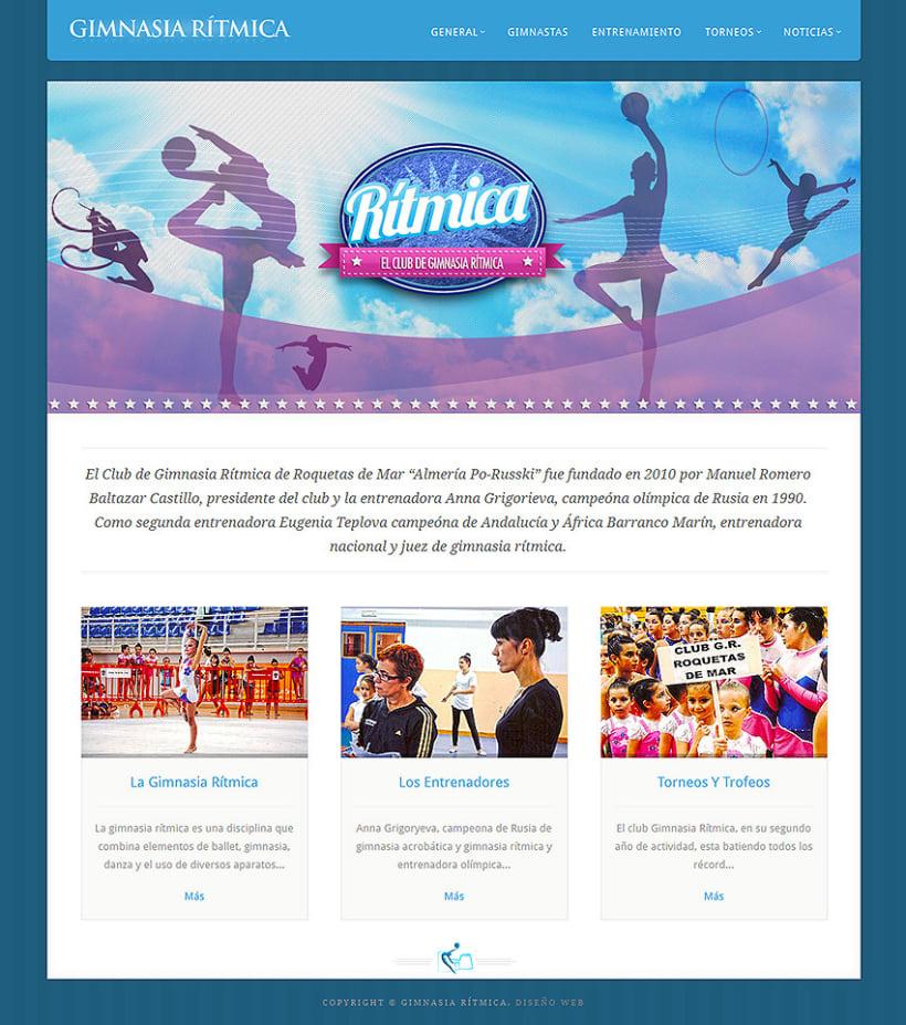 Gimnasia Rítmica. Sitio Web  1