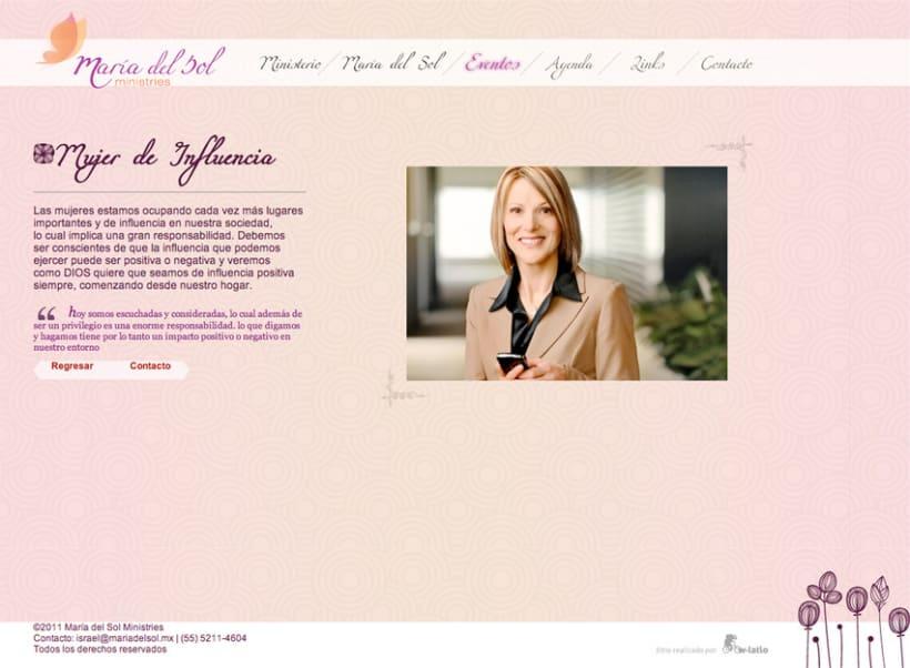 Pagina Web María del Sol 4