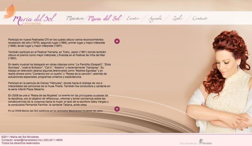 Pagina Web María del Sol 3