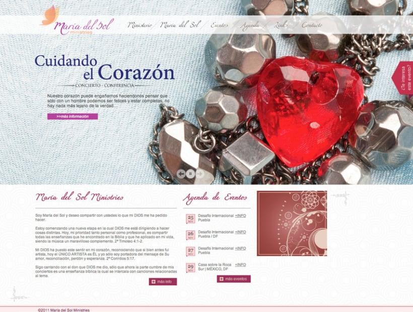 Pagina Web María del Sol 1
