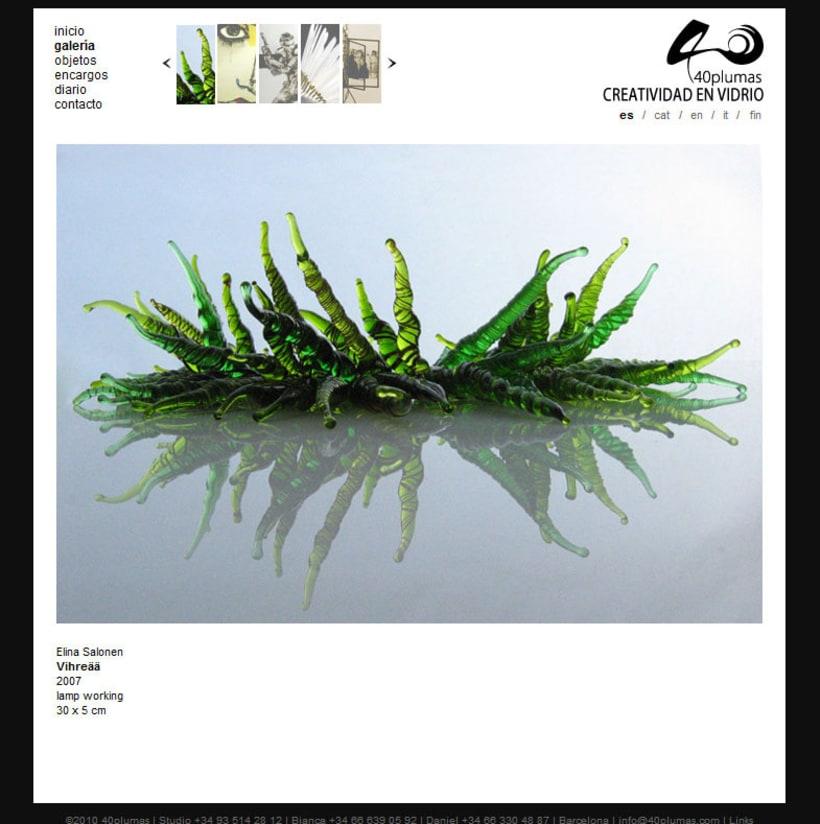 40 plumas - Creatividad en vidrio 3