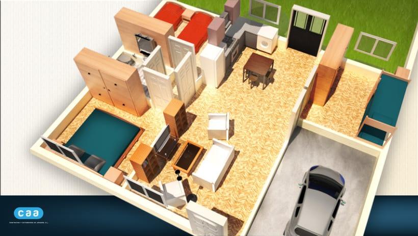 3d casas planos domestika - Planos de casa en 3d ...