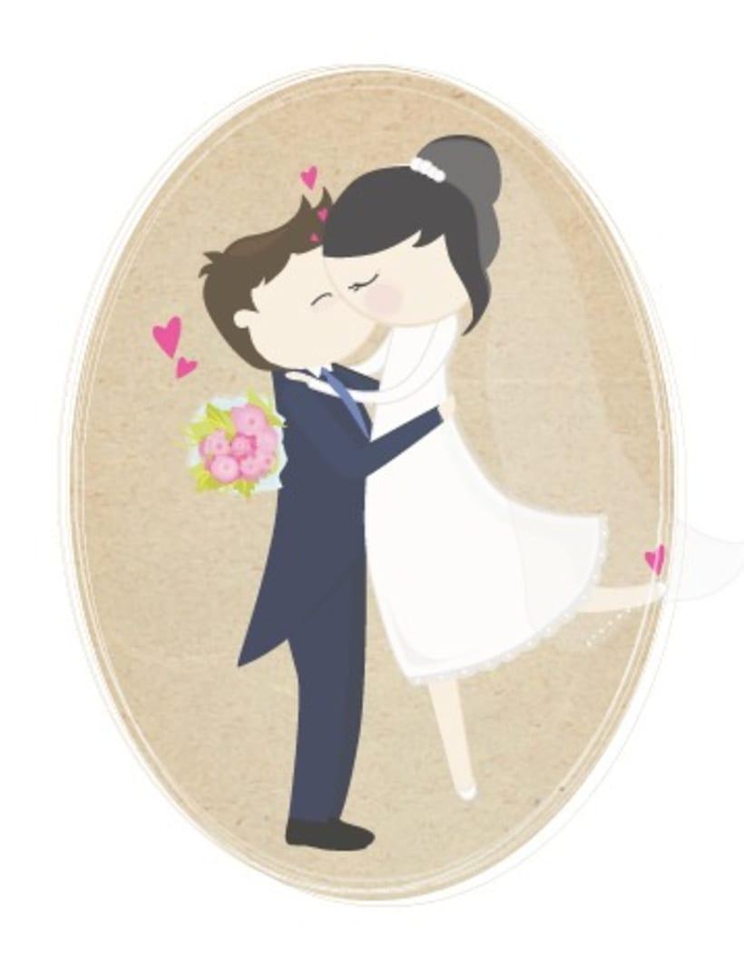 Ilustración boda personalizada 1
