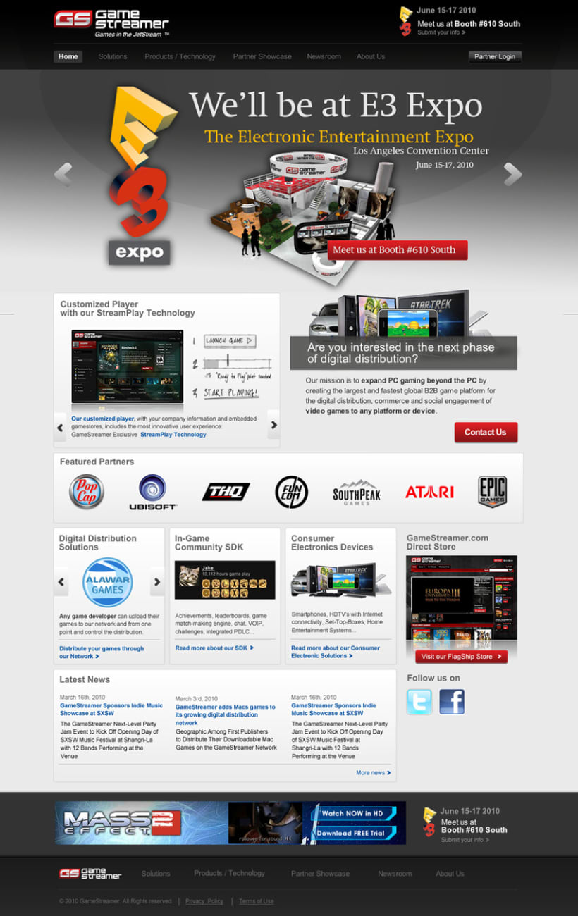 Game Streamer - Diseño Web 2