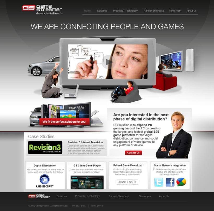 Game Streamer - Diseño Web 1