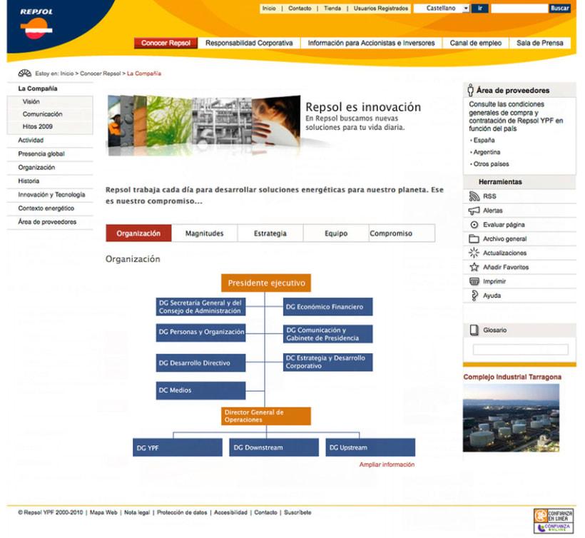Repsol - Diseño Web 2