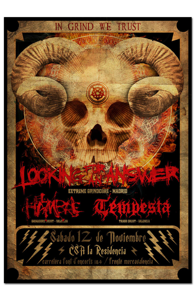 LOOKING FOR AN ANSWER + TEMPESTA + EL HAMBRE | poster 1