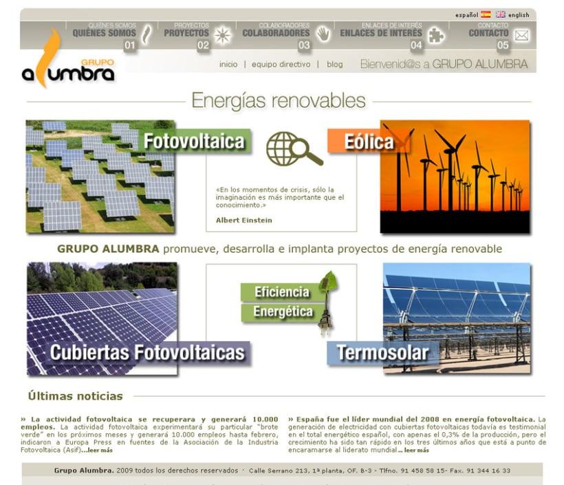 Website Grupo Alumbra 2