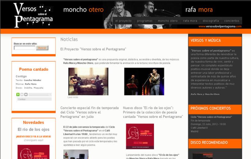 Website Versos sobre el Pentagrama 2