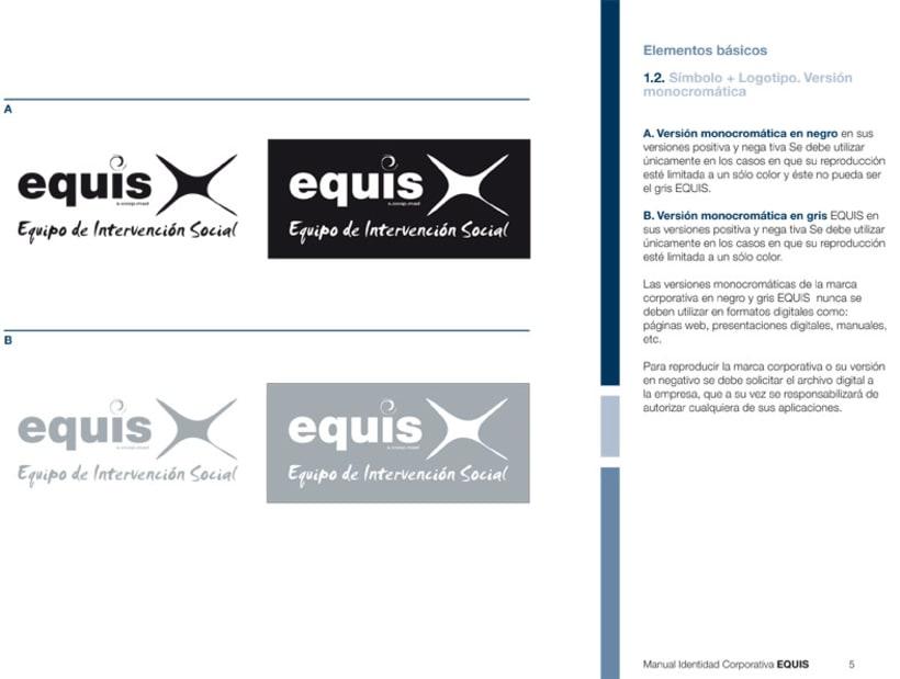 Manual Corporativo (Manual de Identidad Corporativa De EQUIS Equipo de Intervención Social 14