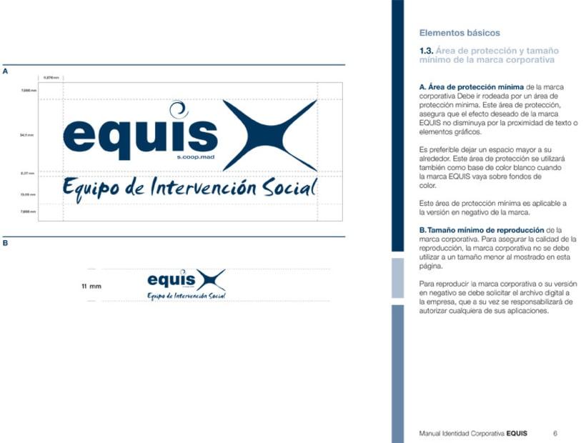 Manual Corporativo (Manual de Identidad Corporativa De EQUIS Equipo de Intervención Social 13
