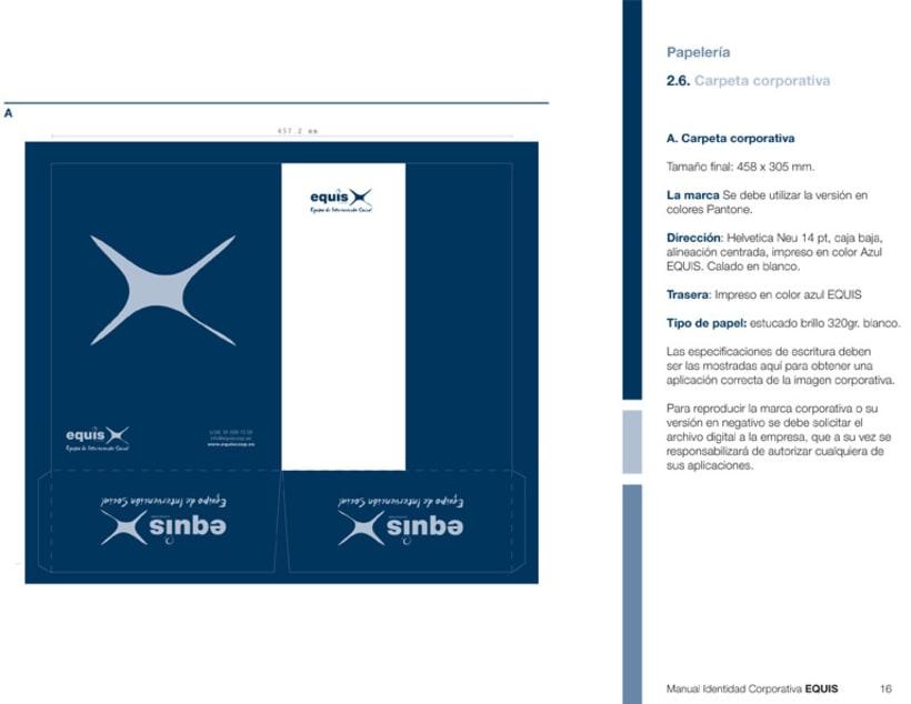 Manual Corporativo (Manual de Identidad Corporativa De EQUIS Equipo de Intervención Social 10