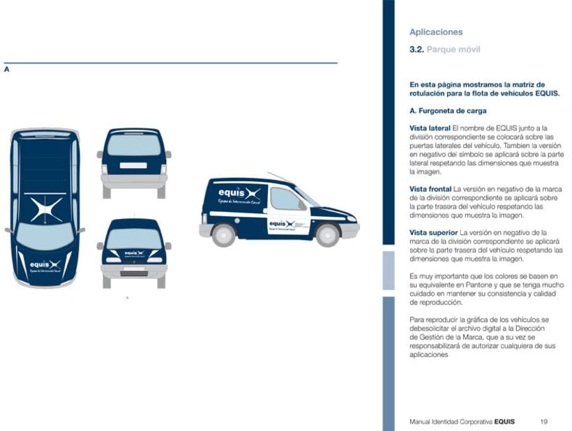 Manual Corporativo (Manual de Identidad Corporativa De EQUIS Equipo de Intervención Social 8